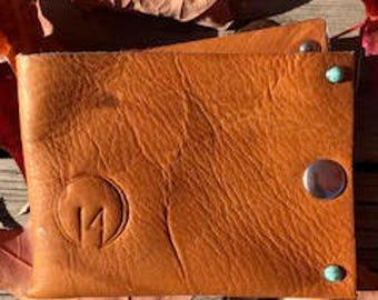 Hand Crafted, Tan, Cowhide Leather Wallet