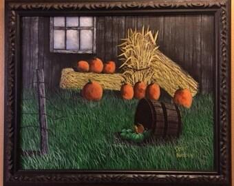 Fall Pumpkins - original painting