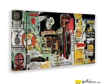 Modern paintings-Jean Michel Basquiat-NOTARY-Yellow BUS