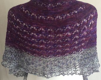 Beaded lace shawl