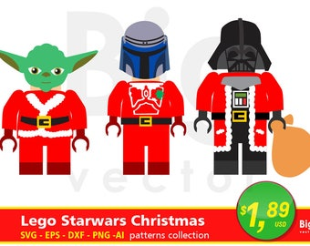Lego Christmas Star Wars SVG, Ai, Eps, Png, Dxf, files. Lego Christmas, Lego Star wars