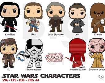 Star wars the last jedi Svg, Ai, Eps,Dxf, png files,cuttables and printables