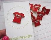 Tomato red sewing club enamel pin badge - sewing seamstress sewer enamel pin brooch