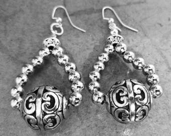 Handmade one of a kind Beaded Earrings