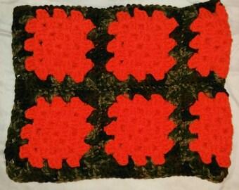 Orange and Camo Blanket