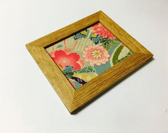 Wooden plate/small/English cloth/Made in Japan/Kyoto/accessory/jewelry display/gift/mediocrity/trays/wooden/Japanese pattern/tray