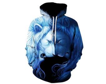 Lion Hoodie, Lion, Lion Hoodies, Animal Prints, Animal Hoodie, Animal Hoodies, Lions, Hoodie Lion, Hoodie, 3d Hoodie, 3d Hoodies - Style 2