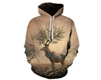 Deer Hoodie, Deer, Deer Hoodies, Animal Prints, Animal Hoodie, Animal Hoodies, Deers, Hoodie Deer, Hoodie, 3d Hoodie, 3d Hoodies - Style 8