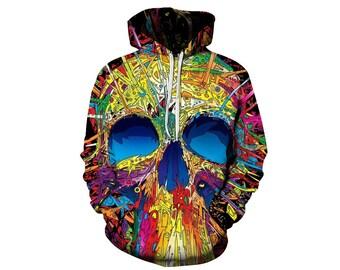 Skull Hoodie, Skull, Skull Hoodies, Skull Prints, Scalp Hoodie, Gothic, Skeleton, Skulls, Scalp, Hoodie, 3d Hoodie, 3d Hoodies - Style 3