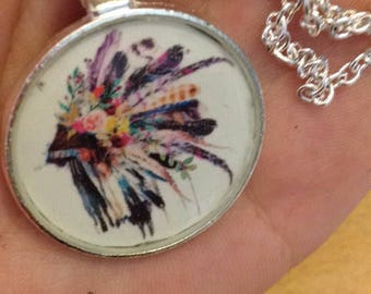 Indian hat tribal necklace