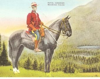 VINTAGE POSTCARD - Postcard - Royal Canadian Mounted Police - Canada