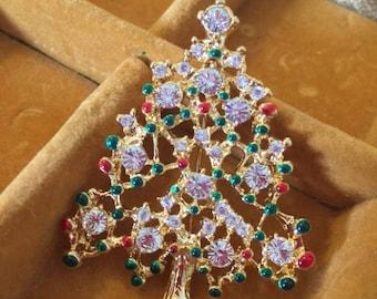 Vintage Christmas Brooch - Christmas Tree