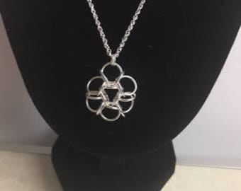 Japanese reverse Tao Chainmaille necklace