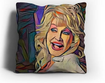 Dolly Parton - Dolly Parton Throw Pillow Cover,Dolly Parton Art,Dolly Parton Print,Dolly Parton Merch,Dolly Parton Gift,Dolly P