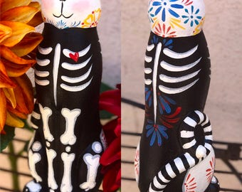 La Catrinita Crafts: Day of the Dead/Dia de los Muertos Cat Figurine