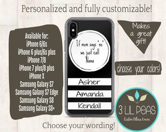 Personalized Grandma Phone Case, iPhone case for Nana, Aunt Gift, Birthday gift for Nana, Cell Phone Case Personalized, Grandma Gift