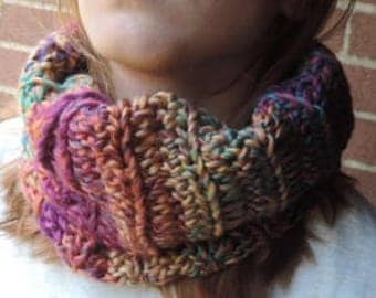 super soft and chunky cowl/neck warmer