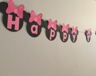 Minni Mouse Birthday Banner