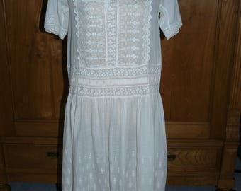 1920s cotton gauze dress