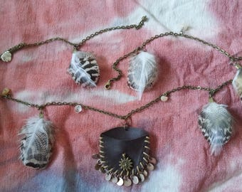 Tribal Indian belly chain or hip jewelry, boho festival style