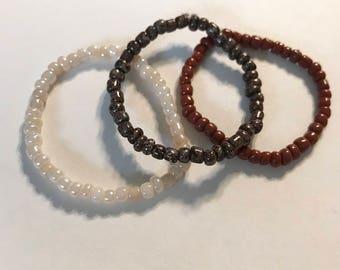 Stack bracelets, fall bracelet, neutral bracelets, brown, kids bracelet, kids, girls bracelets, thanksgiving bracelets, fall fashion