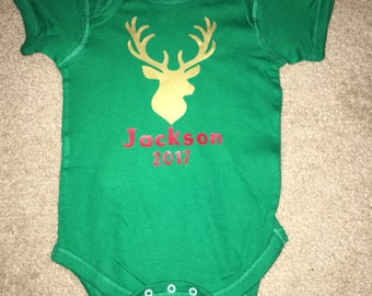 Infant/Toddler Christmas Deer w/ name