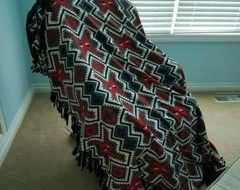 Homemade Fleece Tie Blankets