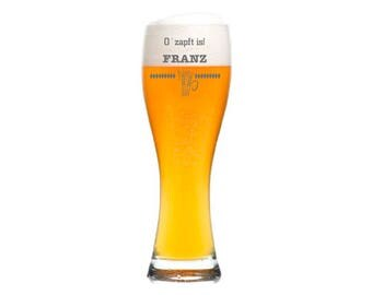 """Leonardo Wheat Glass with personalized engraving/engraving """"Oktoberfest"""" gift for men beer with name date for birthday Father's Day"""