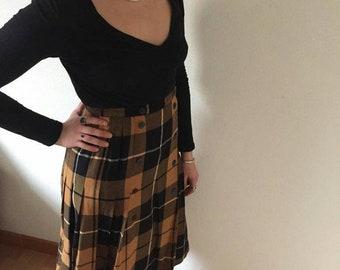 The 70's Vintage Scottish pleated skirt