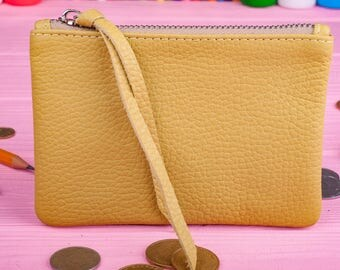 Coin wallet Coin pouch Leather wallet Gift for her Minimalist wallet Womens wallet Ladies wallet Leather wallet Leather pencil case