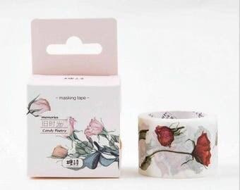 Vintage rose Washi Tape Masking adhesive tape