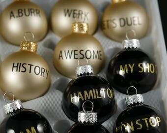 Hamilton Musical, Musical Broadway Christmas ornaments,  Alexander Hamilton Christmas Ornament,Playbill, Hamilton ornaments