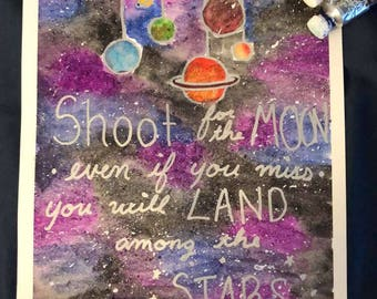 Galaxy Painting with Planets