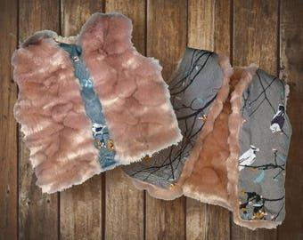 Amanda Reversible Fur Vest
