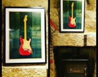 Fender Stratocaster (unframed)