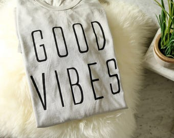 Good Vibes t shirt for women good vibes work out t shirt good vibes shirt Christmas gift for women mom shirt positive shirt gym shirts