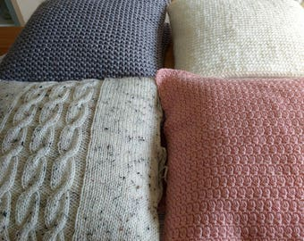Knitted Cream Cushion