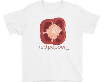 Red Pepper T-Shirt - Kids - Foodie - Chef - Organic