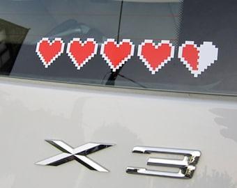 Zelda Container Hearts vinyl sticker