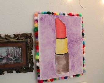 Lipstick Water Color Canvas