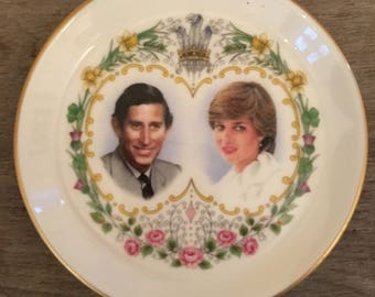 Diana and Charles, Commemorative Trinket Dish