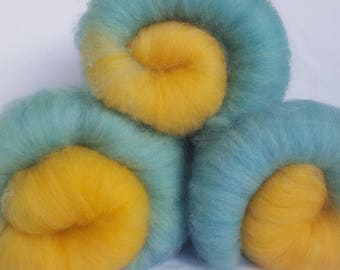 Art Batt, Merino, Hand Dyed, Gradient Batt, for Spinning, Felting, Fiber Arts