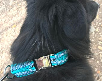 Double Cobra paracord dog collar