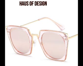 Pink glam sunglasses