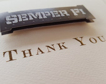 US MARINE CORPS - 5 Gorgeous 3D Thank You Notes