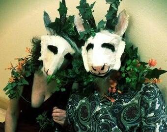 satyr sots mask masquerade goat silly carnival fun weird creepy silly adult mardi gras bacchanalia pan god wine horns