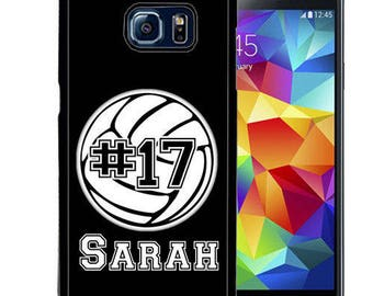 Personalized Rubber Case For Samsung S5, S6, S6 edge, S6 Edge Plus, S7, S7 Edge,  8, 8 plus -  Volleyball Sport