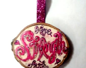 Breast cancer inspirational  ornament