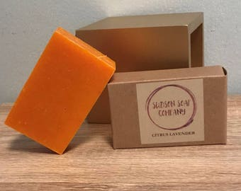 Citrus Lavender - Organic Homemade Soap - 4oz Bar -
