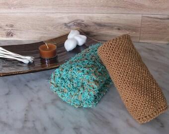 Spa Washcloth Set - Seafoam n' Sand